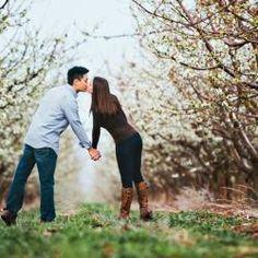 April Orchard Engagement