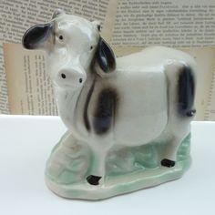 Vintage Primitive Cow Figurine  by frannyandseb on Etsy, $10.00