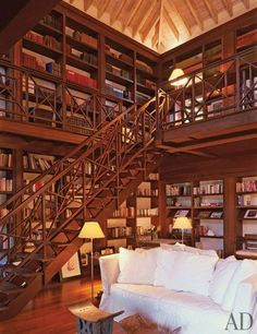 When you consider it, home offices and home libraries have a lot of common. Have your house library custom-designed. If you are lucky enough to have a house library, you should think about setting it up as a study region… Continue Reading → Beautiful Library, Dream Library, Beautiful Homes, Future Library, Closet Library, Cozy Library, Attic Library, Beautiful Home Designs, Beautiful Houses Interior