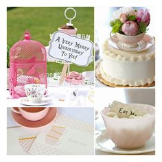 An Adorable Alice in Wonderland-Inspired Birthday Tea Party ❤ liked on Polyvore featuring backgrounds and food