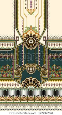 Textiles, Shutter Images, Egypt Jewelry, Truck Bed Covers, Baroque Pattern, Design Seeds, Painting Wallpaper, Embroidery Fashion, En Stock
