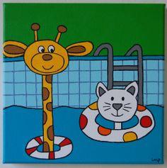 zwembad ( swimmingpool)  20x20 cm