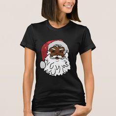 black santa claus T-Shirt #christmas #womensfashion #xmas #womensclothing