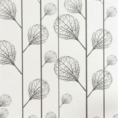Ribbed wallpaper - off-white/black - Ferm Living Ferm Living Wallpaper, Wall Wallpaper, Scandinavian Design Centre, Scandinavian Style, Wallpaper Off White, Grown Up Bedroom, Open Concept Home, Botanical Wallpaper, Gold Pattern
