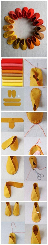 felt slippers: