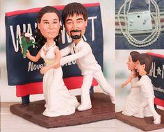 Shopper theme topper  Personalised wedding by UniqueCakeToppers #weddingtopper #waltmart #shopper