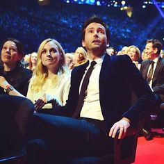 Great reaction shot of David Tennant when he realised he was the recipient on the NTA special recognition award.
