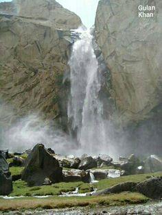 So fantastic photography of beautiful Manthoka waterfall Skardu Valley Hunza Gilgit Baltistan Pakistan