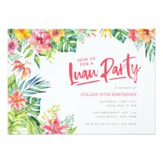 Tropical Invitations & Announcements | Zazzle.co.uk