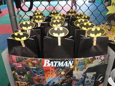 Favors at a Batman Party #batman #partyfavors