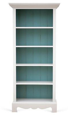 Standing more than six feet tall, this Gray and Turquoise Beach House Bookcase was handcrafted using time-honored woodworking techniques, including mortise-and-tenon joinery, and flaunts a hand-pa… Redo Furniture, Decor, Beach House Decor, Painted Furniture, Coastal Decor, Bookcase, Beach Room, Cottage Decor, Home Decor