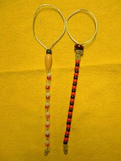 2 Large Handcrafted Beaded Bubble Wands  11.5 inches by Kats3meows, $13.50