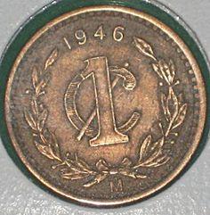 Monedas de México y el Mundo: México: Un Centavo de 1946 (Monograma)