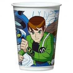 BICCHIERI DI PLASTICA BEN 10 PARTY 200ML 10PZ