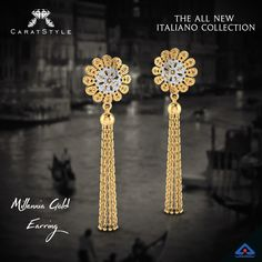 From Italy with Love, splash of golden hues in customization of colors... #jewellery #gold #earrings #danglers #earringsonline #goldearrings #fashion #freeshipping #onlineshopping #onlineindia