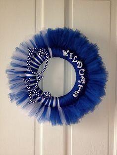 Kentucky Tutu Tuile Wreath by HandmadeByHeather5 on Etsy, $45.00