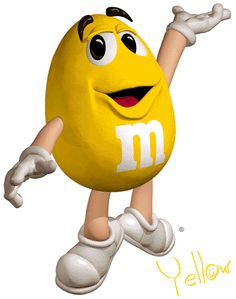 Image result for yellow m&m character
