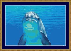 Underwater Dolphin Cross Stitch Pattern