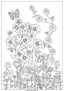 """""""Abundance on a Page"""" free and original Colouring-in page. More stuff on the website."""