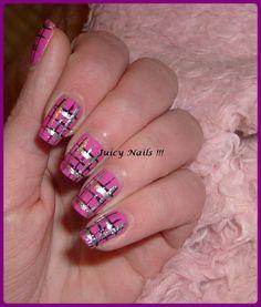 Purple rose nails art | Nail art Kilt rose - Passion Nail Art