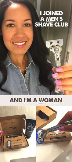 A friend told me she joined Dollar Shave Club. Turns out it's not just for guys. When I found out I could get my first month free (with a few bucks shipping), I decided to give it a try. I ordered the six-blade Executive Razor. It may look like a men Beauty Secrets, Diy Beauty, Beauty Makeup, Beauty Hacks, Hair Makeup, Beauty Tips, Beauty Zone, Contour Makeup, Dollar Shave Club