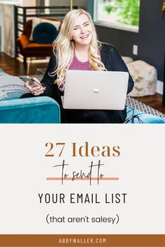 27 Ideas to Send to Your Email List | Abby Waller Scale Your Photo Biz | Want to learn more about what to send in your email newsletter? In this post I'm sharing 27 topics you can send to your email list, the biggest secret to planning your monthly newsletter, and the #1 thing everyone should know about nurturing their email list. | Click here to read more about email marketing, email newsletters, and what to send your in your photography newsletter #emailmarketing Email Marketing Campaign, Email Marketing Strategy, Marketing Tactics, Small Business Marketing, Business Branding, Content Marketing, Media Marketing, Online Marketing, Creative Business