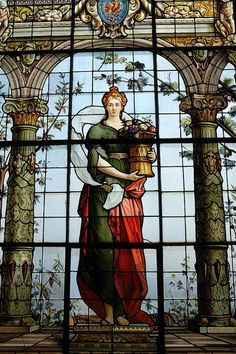 stained glass window, Chapultepec Castle, Mexico City.