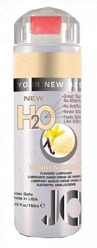 System Jo H2O Vanilje - Vanilla Cream - 150 ml fra SystemJO - Sexlegetøj leveret for blot 29 kr. - 4ushop.dk - Vandbaseret glidecreme med vanilje smag, som har alle fordelene fra System JO personlige glidecremer. Samme følelse og viskositet, men alligevel indeholder den ingen olie, voks eller silikone.