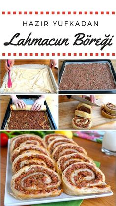 Hazır Yufkadan Lahmacun Böreği Tarifi – Nefis Yemek Tarifleri Video presentation How to make Lahmacun Pastry Recipe from Ready Yufka? Video description of this recipe in the person book and photos of those who try it are here. Yummy Recipes, Cake Recipes, Pastry Recipes, Baking Recipes, Iftar, Good Food, Yummy Food, Arabic Food, Turkish Recipes
