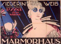 By Josef Fenneker (1895-1956), 1918, Die Nonne und die Harlekin, Marmorhaus movie palace. (G)