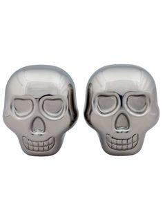 """Skull"" Whiskey Cubes (Silver) #InkedShop #InkedMag #Skull #Whiskey #Subes #Silver"