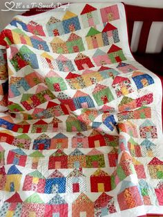 Village Quilt Done! – It's a T-Sweets day!