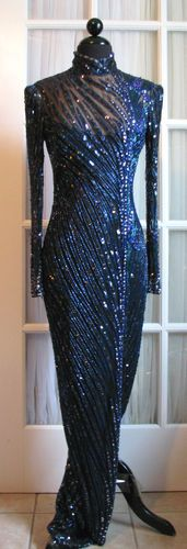 Gorgeous beaded and sequinned Bob Mackie gown on eBay.