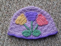 🌷 👩 🌷 Modelo Tulipa Chapéu de Crochê -  / 🌷 👩 🌷 Model Tulip Hat Crochet -