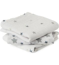 ADEN + ANAIS - Set of three Twinkle Twinkle muslin cloths | Selfridges.com