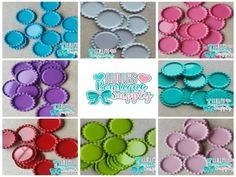 20 Pc Grab Bag Of Blank Double Sided Flattened Bottle Caps