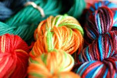 kool-aid dyed yarn!