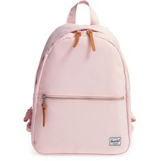 Women's Herschel Supply Co. 'Town' Backpack ($60) ❤ liked on Polyvore featuring bags, backpacks, accessories, backpack, cloud pink, day pack backpack, backpack bags, herschel supply co backpack, knapsack bag and daypack bag