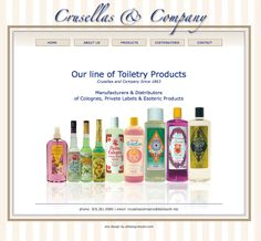 Manufacturers & Distributors of Colognes, Private Labels & Esoteric Products http://crusellasandcompany.com