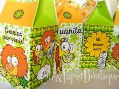 Cute and Paper Boutique Diseños personalizados en papeleria para tu fiesta o evento. Baby Shower: milk box