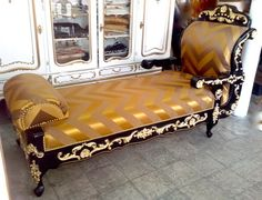 Récamière schwarz/gold - Barock - Holz/Stuck von Royal Classics Stilmöbel auf DaWanda.com