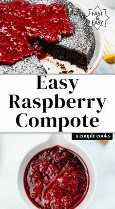 Use this easy raspberry compote recipe in many ways! Drizzle the sauce on cake or ice cream or use for topping for yogurt oatmeal pancakes or waffles. Sour Cream Pancakes, Oatmeal Pancakes, Waffles, Fruit Recipes, Dessert Recipes, Breakfast Recipes, Jelly Recipes, Cupcake Recipes, Pie Recipes