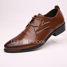 Hombre Oxfords Zapatos formales Cuero Primavera Verano Otoño Invierno Casual Zapatos formales Tacón Plano Negro Marrón 2'5 - 4'5 cms 2017 - $37.99