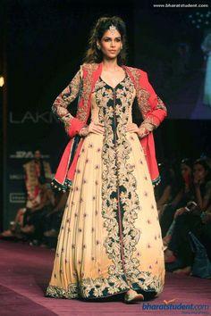 Anarkali by Shyamal & Bhumika at Lakme Fashion Week Winter / Festive 2013