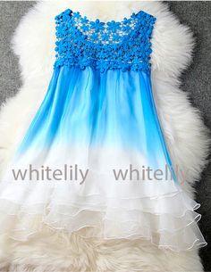 Lace Dress In Blue