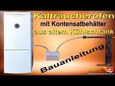 Umbau eines Kühlschranks zum Kalträucherofen mit Kondensatbehält - YouTube Youtube Comments, Diy Food, Refrigerator, Conversation, Grilling, Oven, Household, Container, Smoke