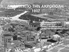 A view from Acropolis on Choragic Monument of Lysicrates, Temple of Zeus and Stadium, 1907 - Photographs of Athens in the Late and Early Century Best of Web Shrine Greece Pictures, Old Pictures, Old Photos, Parthenon, Acropolis, Athens History, Mycenae, Still Picture, As Time Goes By
