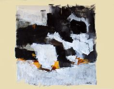 Jean-Paul BARRAY, Abstraction, gouache sur papier, vers 1960 Technique : gouache sur papier, sbd., 51 X 67 cm