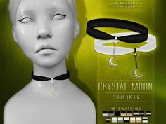 Crystal moon choker by Blahberry Pancake for The Sims 4
