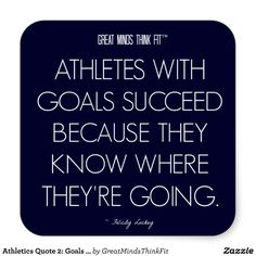 #Athletics #Quote 2: Goals for Success #Sticker